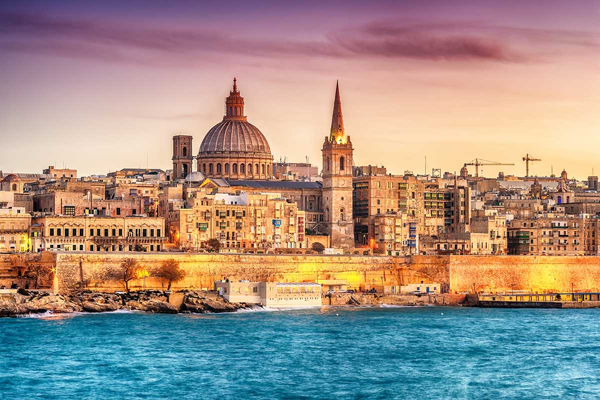 A view of Valletta as seen from the sea